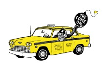 The Come On cab logo color